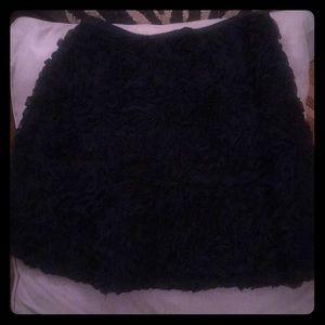 Navy Ruffle skirt